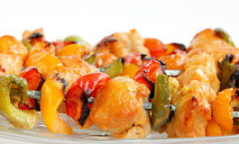 Plan rapproché de tikka de poulet photos stock