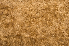 Plan rapproché de tissu de peluche de Brown Photographie stock