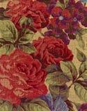 Plan rapproché de tissu de tapisserie. Photo stock
