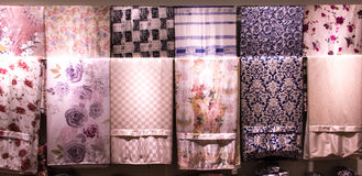 Plan rapproché de tissu en soie de belle texture Photos libres de droits