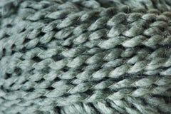 Plan rapproché de tissu de laine Photographie stock libre de droits