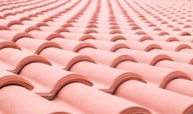 Plan rapproché de toit de pile d'argile Photos stock