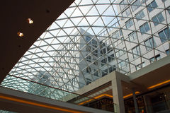 Plan rapproché de toit en verre moderne Photographie stock