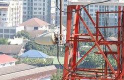 Plan rapproché de tour de télécommunication Image stock