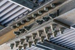 Plan rapproché de travail structurel en métal Photographie stock libre de droits