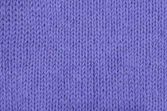 Plan rapproché de tricotage de texture de lavande abstraite Photo libre de droits