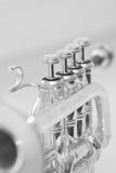 Plan rapproché de trompette de fragment photo libre de droits