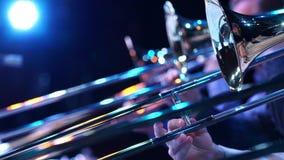 Plan rapproché de trompette de fragment banque de vidéos