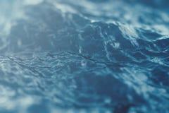 Plan rapproché de vague de mer, vue d'angle faible avec des effets de bokeh rendu 3d illustration de vecteur