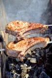 Plan rapproché de viande de barbecue Image stock