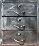 Plan rapproché de vieux casier en métal Photographie stock libre de droits