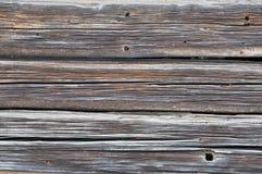 Plan rapproché de vieux mur de log image stock