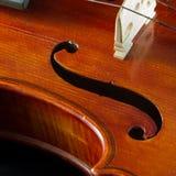 Plan rapproché de violon Photo stock