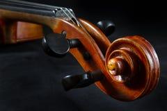 Plan rapproché de violon Photographie stock