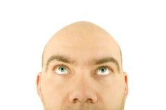 Plan rapproché de visage d'homme Photographie stock