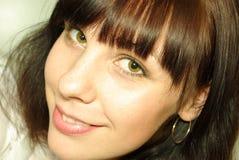 Plan rapproché de visage de femme Photographie stock libre de droits