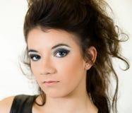 Plan rapproché de visage de jeune femme Image libre de droits