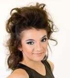 Plan rapproché de visage de jeune femme Photo libre de droits