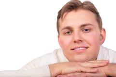 Plan rapproché de visage de jeune homme de Frendly Image libre de droits