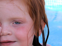 Plan rapproché de visage de petites filles Photographie stock