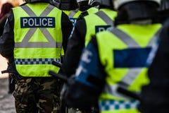 Plan rapproché de vitesse et de protections de police Photos stock