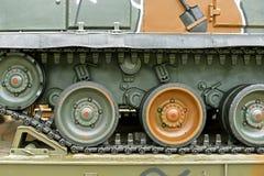 Plan rapproché de voie de Caterpillar Image libre de droits