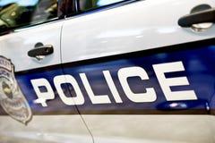 Plan rapproché de voiture de police Images libres de droits