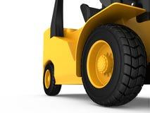 Plan rapproché de vue sur le camion de cargaison de roue rendu 3d Photographie stock libre de droits