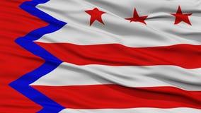 Plan rapproché de Washington City Flag Images libres de droits