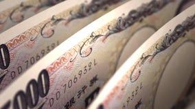 Plan rapproché de Yens japonais Photographie stock libre de droits
