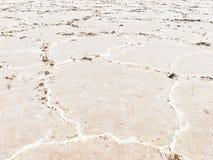 Plan rapproché des appartements de sel Photos libres de droits
