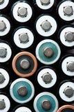 Plan rapproché des batteries de taille d'aa Photos stock