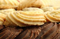Plan rapproché des biscuits Photos libres de droits