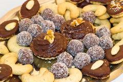 Plan rapproché des biscuits de Noël Photos libres de droits