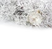 Plan rapproché des boules transparentes de Noël Images stock
