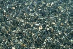 Plan rapproché des cailloux sous l'eau images libres de droits