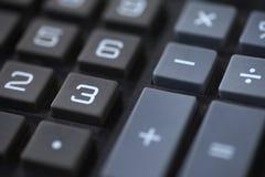 Plan rapproché des clés de nombre et de symbole Images stock