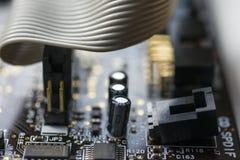 Carte et câble Photo stock