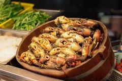 Plan rapproché des crabes de Dungeness frais Photos libres de droits