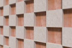 Plan rapproché des cubes beiges sur la surface en bois Image libre de droits