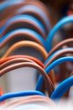 Fils électriques colorés photographie stock libre de droits