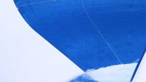 Plan rapproché des glissières d'Aqua scène Le détail intérieur en gros plan de glissière d'eau a accentué la glissière d'eau dans clips vidéos