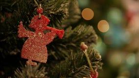 Plan rapproché des jouets de Noël banque de vidéos