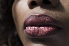 Plan rapproché des lèvres images stock