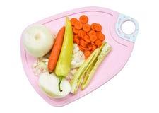 Plan rapproché des légumes coupés Photo libre de droits