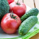 Plan rapproché des légumes crus frais Photos stock