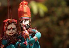 Plan rapproché des marionnettes indiennes photo libre de droits