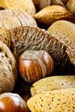 Plan rapproché des noix mélangées Image libre de droits