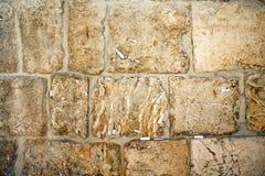 Plan rapproché des notes à Dieu dans le mur occidental Photos libres de droits