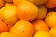 Plan rapproché des oranges Photos libres de droits